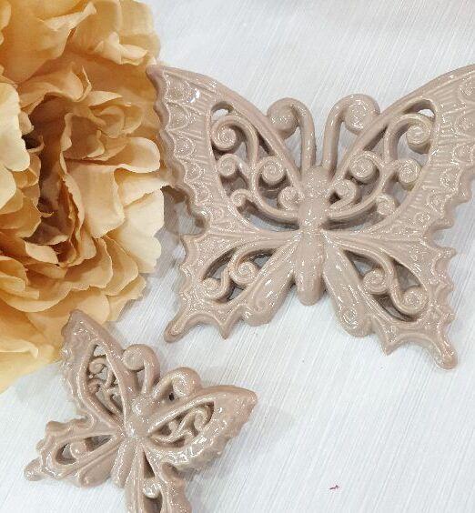 ceramica italiana farfalla appendino