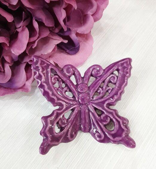 ceramiche farfalle appendini per muro