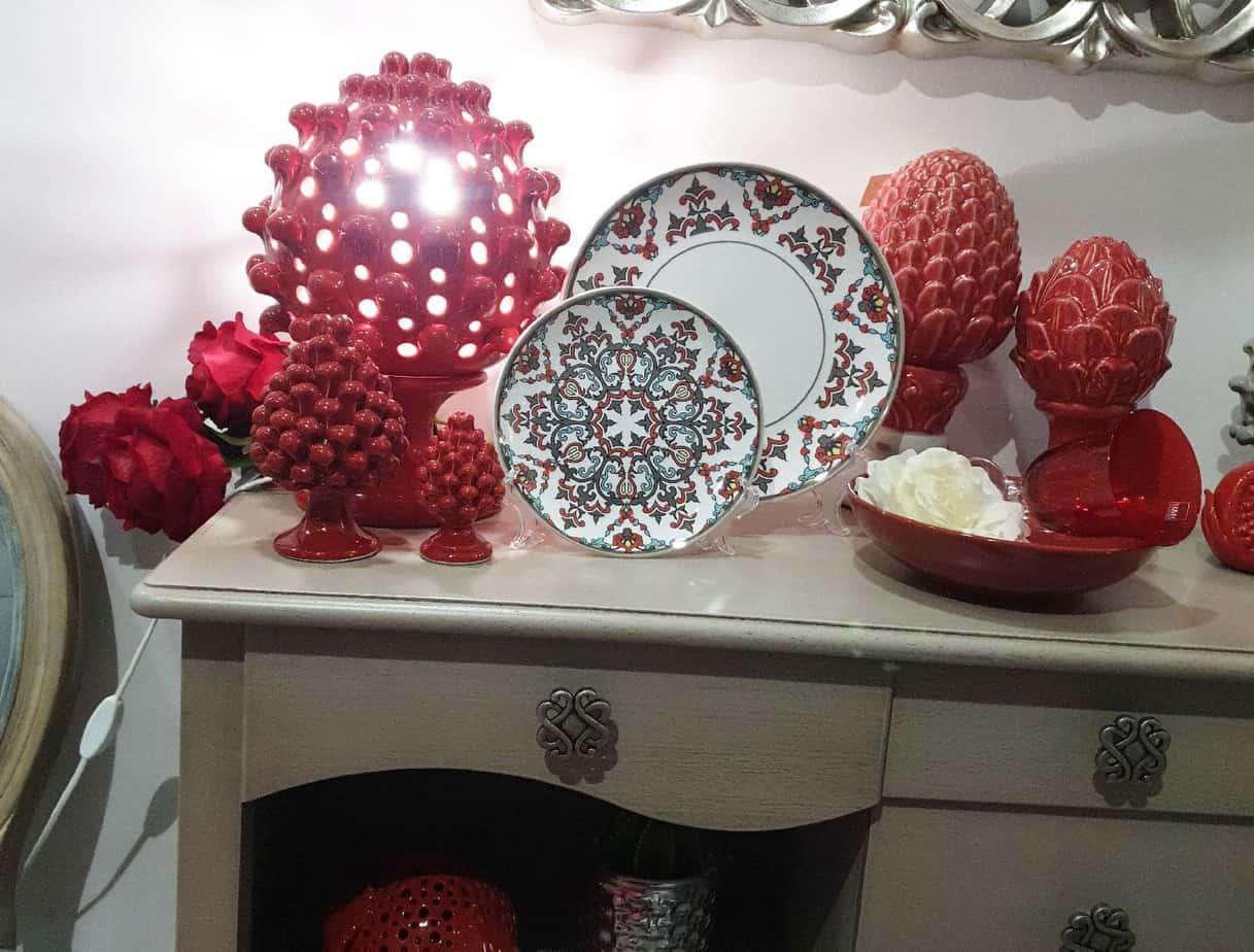 arredo di interni design casa rosso