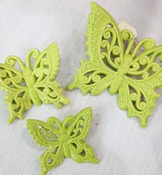 farfalle in ceramica verde acqua