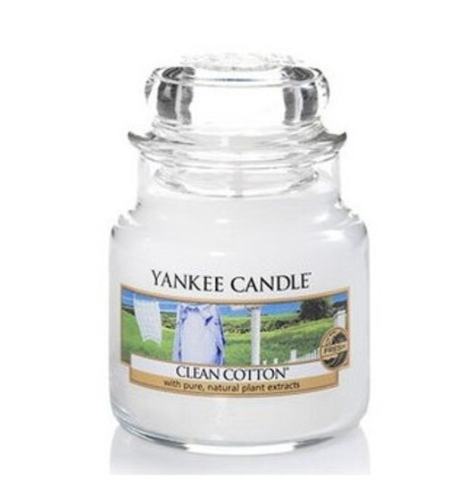 Yankee Candle giara piccola clean cotton