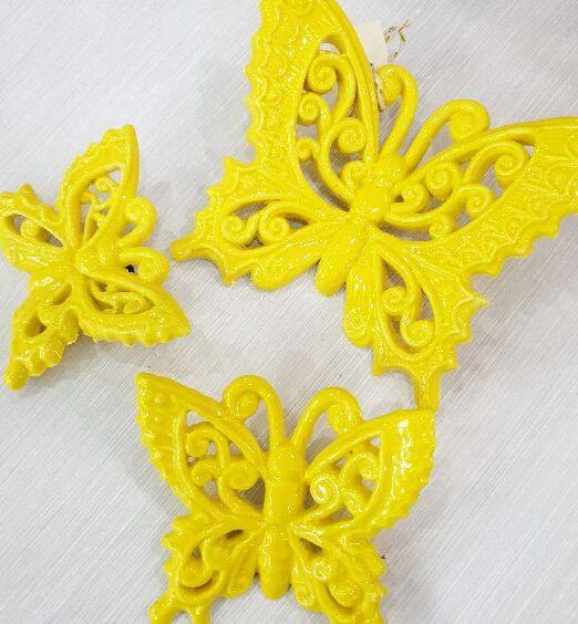 appendino farfalla ceramica gialla