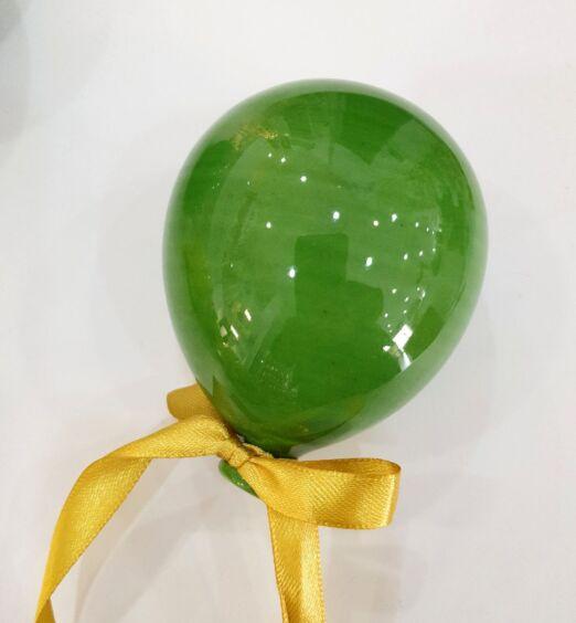 palloncino verde in ceramica