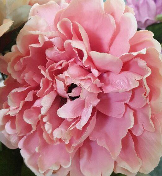 peonia artificiale rosa