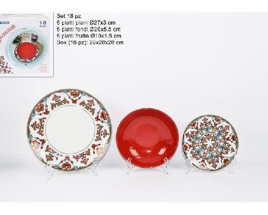 set piatti ceramica damascato