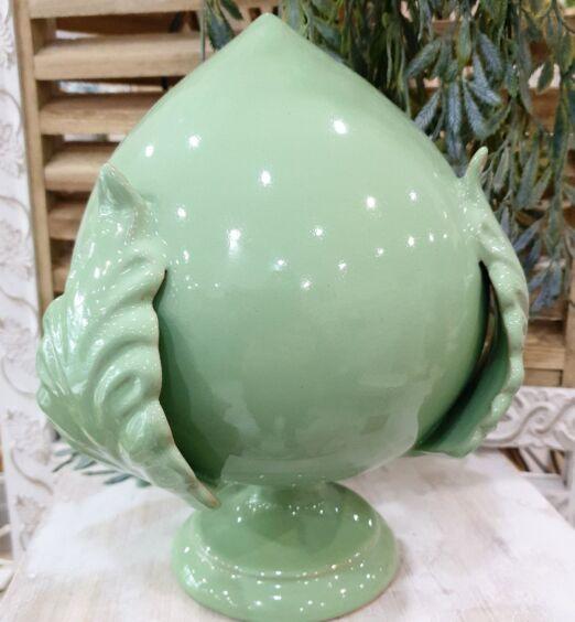 pumo in ceramica verde acqua