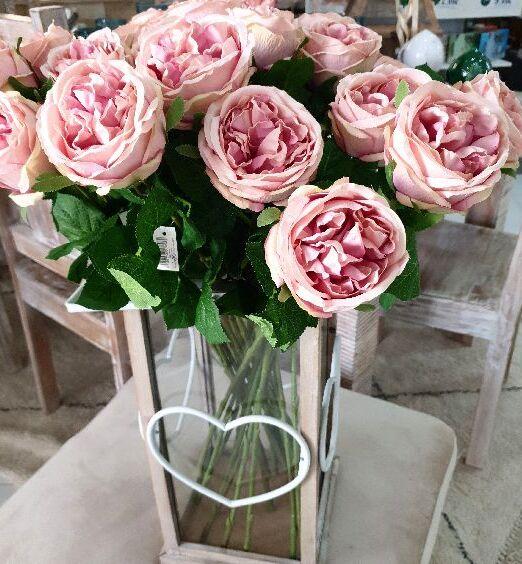 rosa finta per vasi