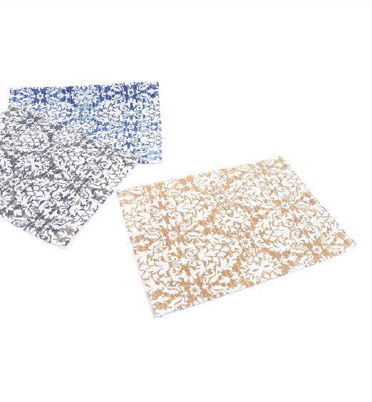 tappeto in cotone damascato