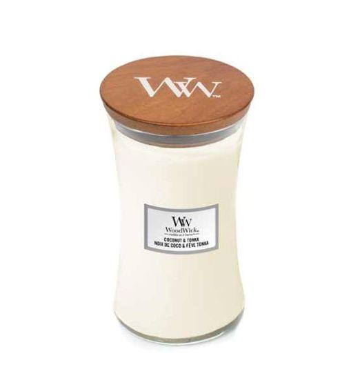 Woodwick giara grande coconut e tonka