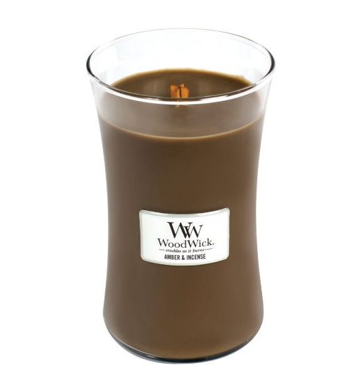 Woodwick giara grande Amber e incense