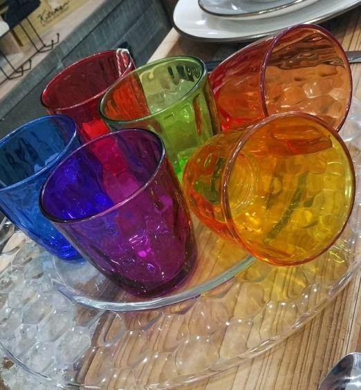 bicchieri in vetro colorati linea brizia