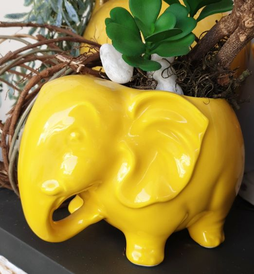 porta vaso ornamentale elefante ceramica