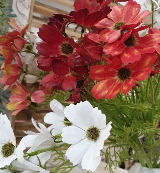 coppia di steli di fiori finti artificiali
