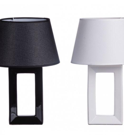 lanterna ceramica bianco e nero