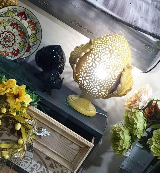 pumo di grottaglie lampada in ceramica