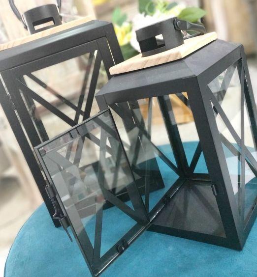 lanterne 2 dimensioni a scelta in ferro