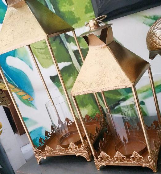 portacandele oro lanterna