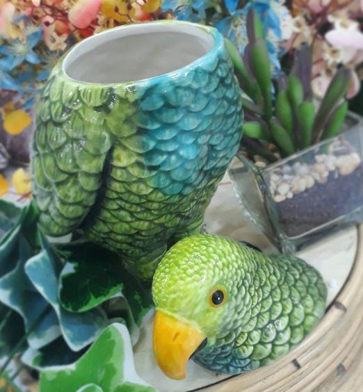 pappagallo contenitore in porcellana 2
