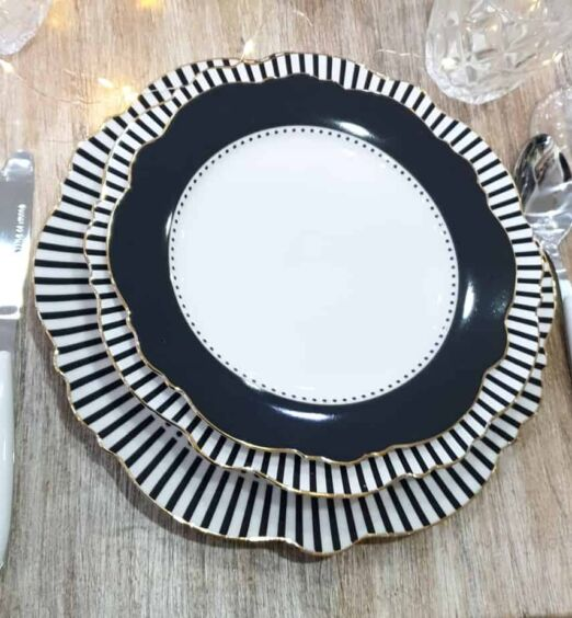 piatti decorati in porcellana fondo piani dessert