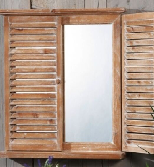 specchiera finestra con mensola