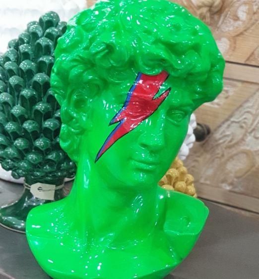 statua mezzobusto donatello verde