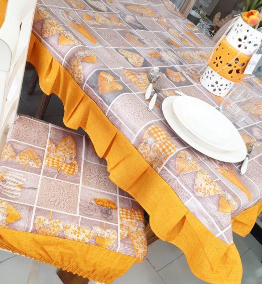 set 6 cuscini in tessuto arancioni