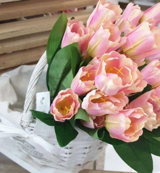 mazzo di tulipani rosa sfumati