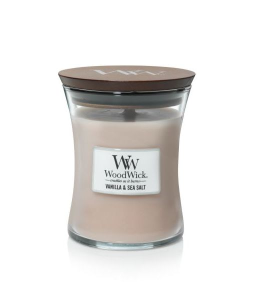Woodwick Giara Media vanilla e sea salt