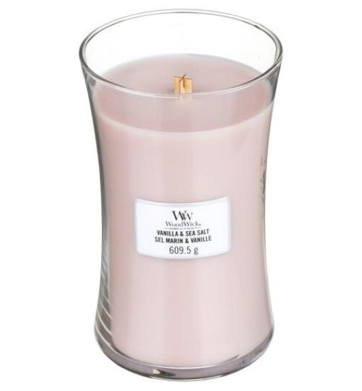 Woodwick giara grande vanilla e sea salt marin 93191E