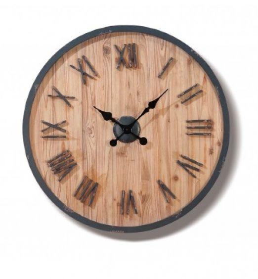 Orologio da parete quadrante in legno e ferro
