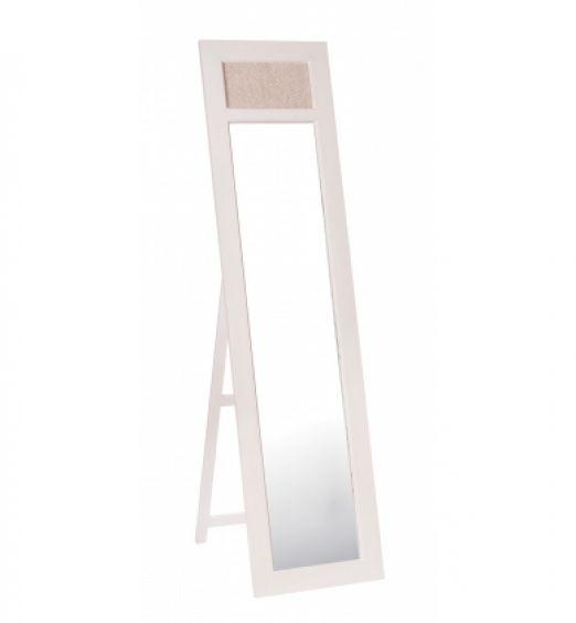 Specchio con cornice in legno a forma di anta