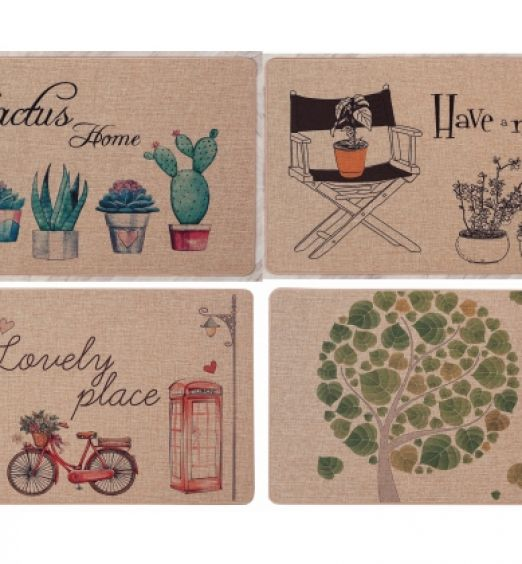 Tappeto antiscivolo in tessuto stampato 4 decorazioni