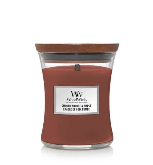 Woodwick giara media smoked walnut e maple