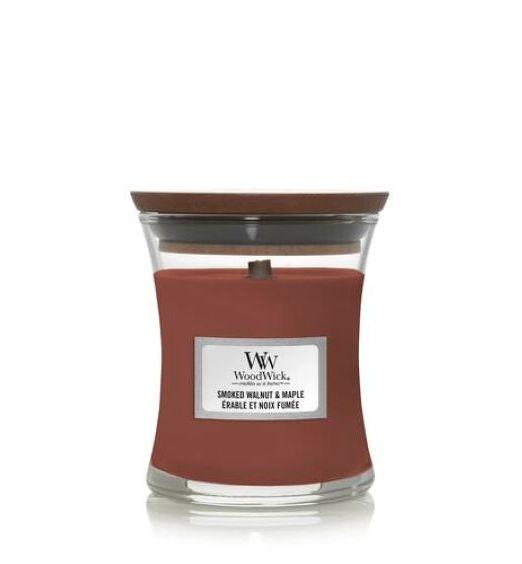 Woodwick giara piccola Smoked Walnut Maple