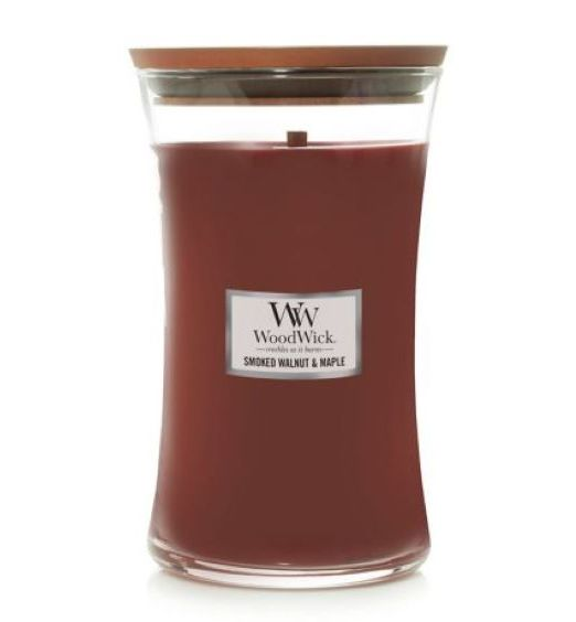 Woodwick giara grande Smoked Walnut e Maple