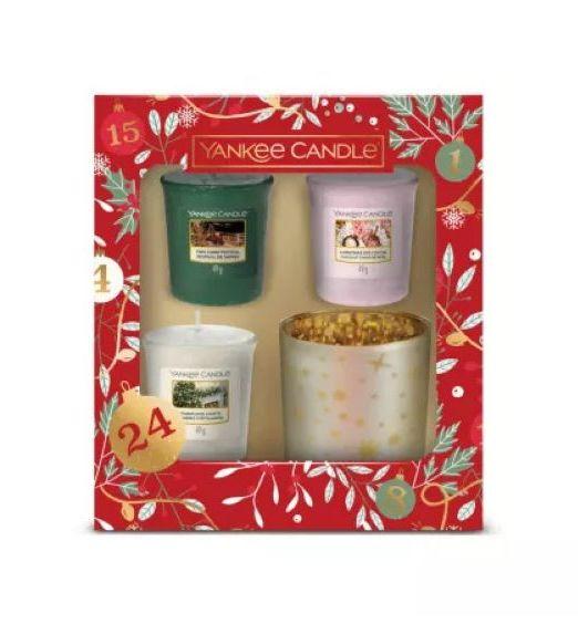 Yankee Candle confezione regalo Con 3 Candele Sampler E 1 Porta Candela Sampler