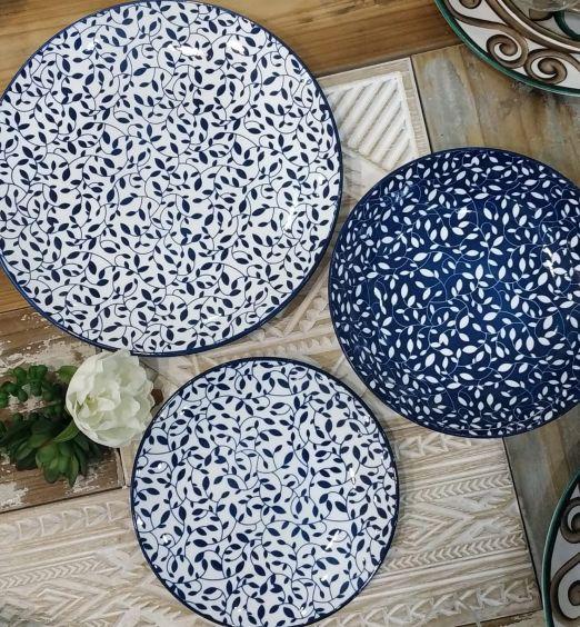 piatti decorativi floreali 18 pezzi