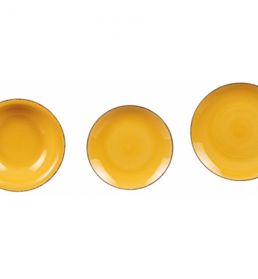 Servizio Piatti in Ceramica 18 pezzi di colore Giallo 64206