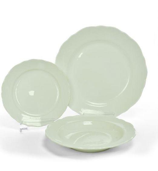 set di 18 piatti verde pastello