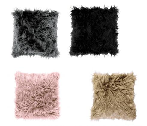 "Cuscino in tessuto ""Furry"" peloso a Cuore 4 colori 74426"