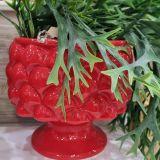 Vaso Porta Pianta in ceramica Rosso Decoro effetto Pigna